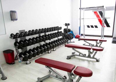 detalles instalaciones gimnasio san sebastian